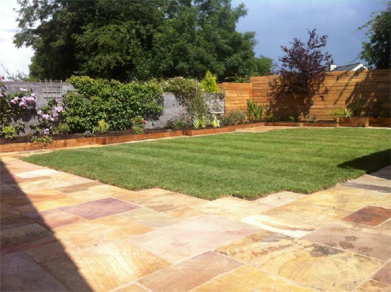 Landscaping kildare patios paving indian sandstone for Garden design kildare
